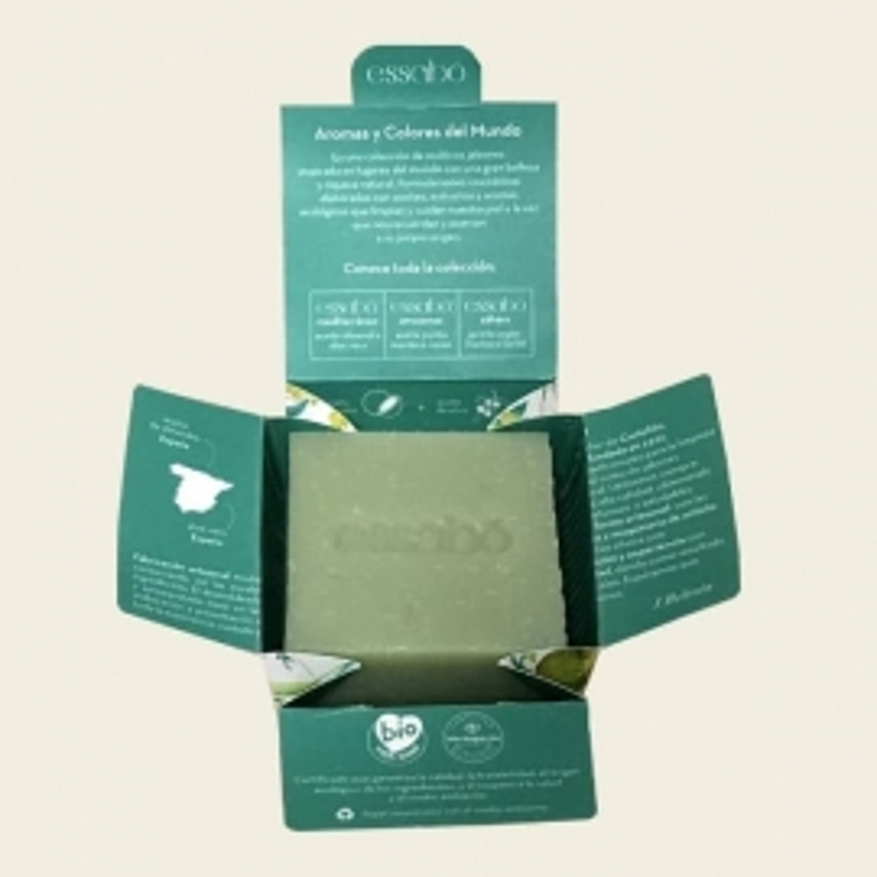Jabón Ecológico Mediterráneo Aloe y Almendra Dulce ESSABO 120 gr