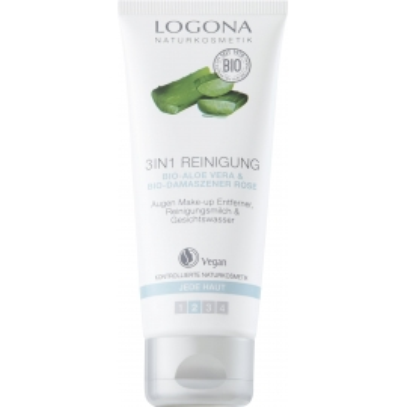 Limpiador facial 3 en 1 Aloe Vera LOGONA 100 ml