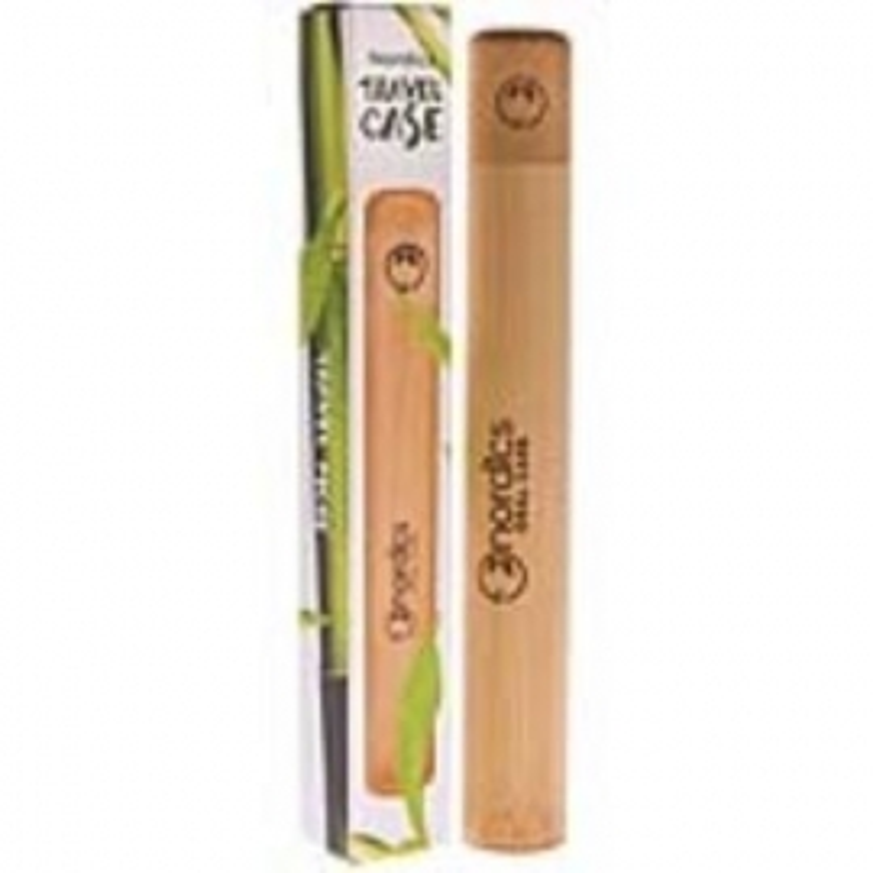 Estuche de viaje para cepillo dental de bambú NORDICS