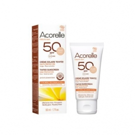 Crema Solar facial color light SPF50 ACORELLE 50 ml