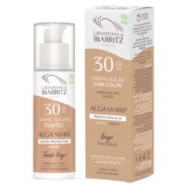 Crema Facial SPF30 color beige ALGA MARIS 50 ml