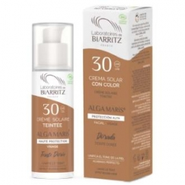 Crema Facial SPF30 color dorado ALGA MARIS 50 ml
