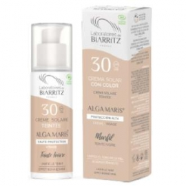 Crema Facial SPF30 color marfil ALGA MARIS 50 ml