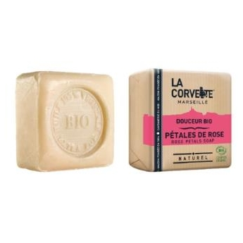Pastilla de jabón Petalos de Rosa LA CORVETTE 100 gr