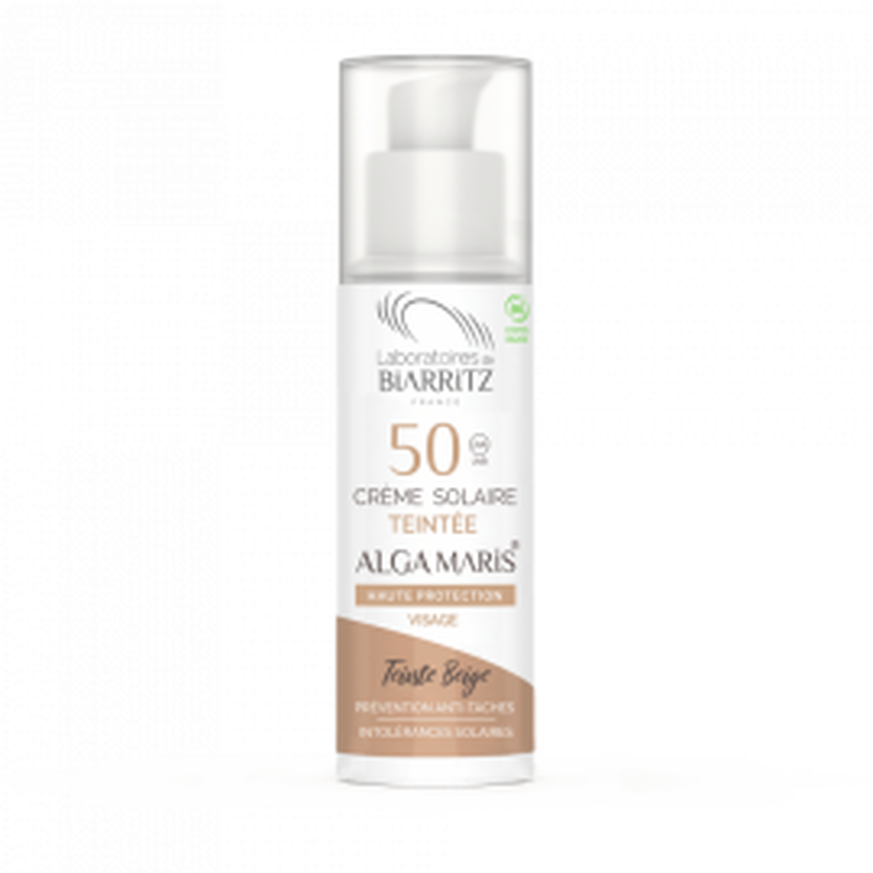 Crema Facial color beige SPF50 ALGA MARIS 50 ml