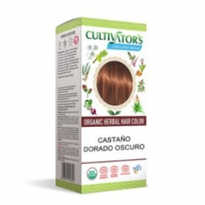Castaño Dorado Oscuro Tinte Orgánico CULTIVATORS 100 gr