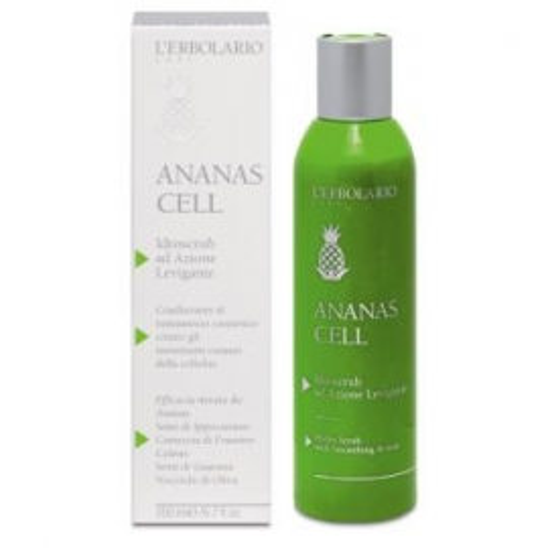 Anannas Cell Hydroscrub efecto suavidad L'ERBOLARIO 200 ml
