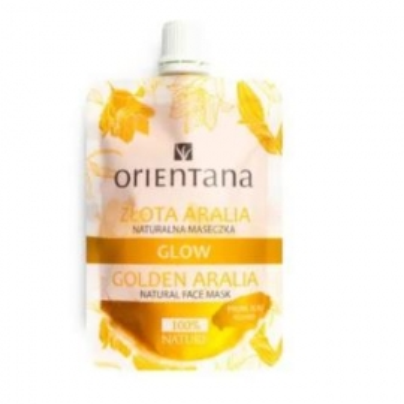 Mascarilla Facial brillante Dorado Aralia ORIENTANA 30 ml